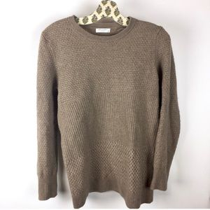 Equipment Femme Brown Texture Sweater Wool Cashmer
